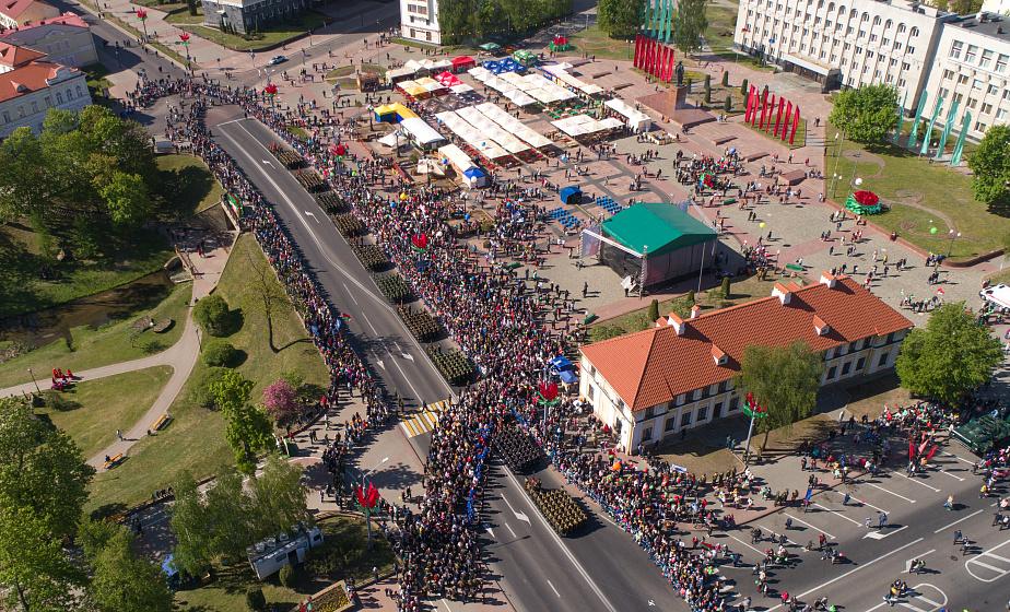 В Гродно и области более 140 000 человек отпраздновали День Победы