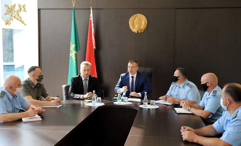 Председатель ГТК представил коллективу Гродненской региональной таможни нового начальника, а также поставил задачи на второе полугодие 2021 года