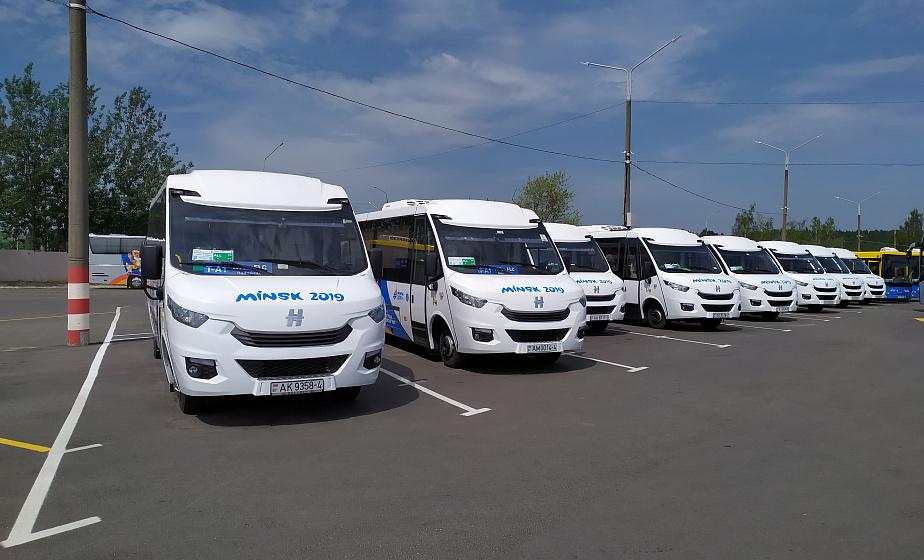 На «Динамо» и гребной канал. 12 автобусов Гродненщины во время II Европейских игр обслуживали вип-клиентов