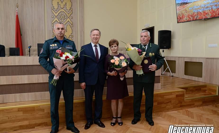 В Гродненском райисполкоме состоялся торжественный прием, приуроченный ко Дню Независимости Республики Беларусь