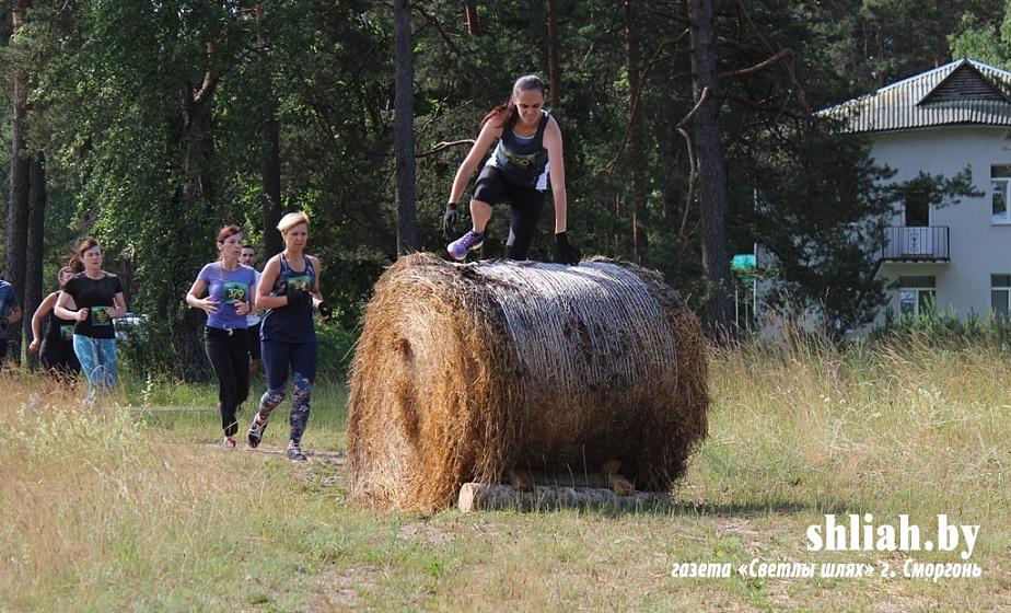Соревнования по экстремальному бегу проходят на Сморгонщине