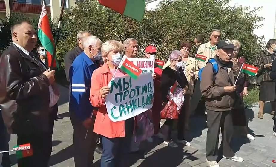 Митинг у консульства Литвы в Гродно против вмешательства во внутренние дела Беларуси