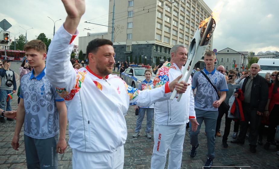 Огонь II Европейских игр прибыл в Гродненскую область (видео)