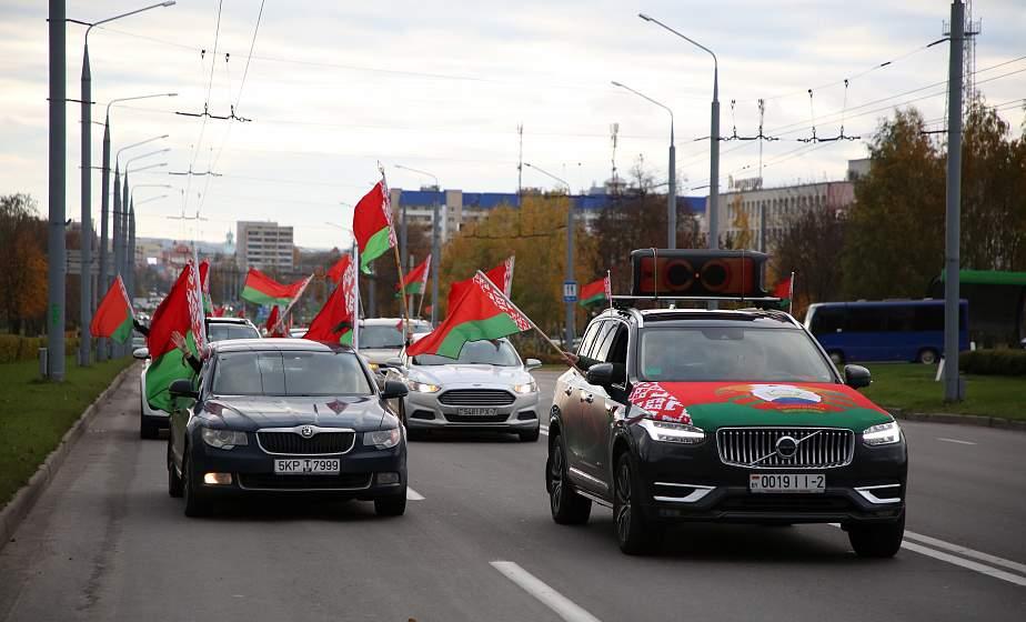 Сотни километров в пути, 300 автомобилей и теплая встреча. В Гродно прошел республиканский автопробег «За единую Беларусь!» (+видео)