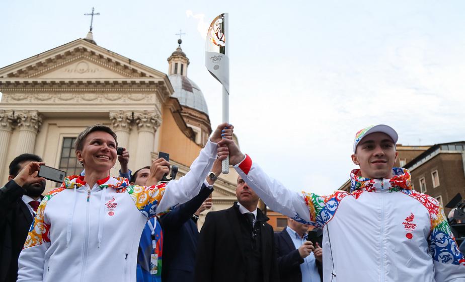 Огонь II Европейских игр зажжен в Риме