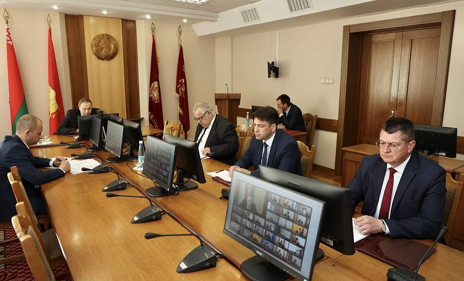 Вопросы реализации директив в области ЖКХ и строительства рассмотрены на заседании облисполкома