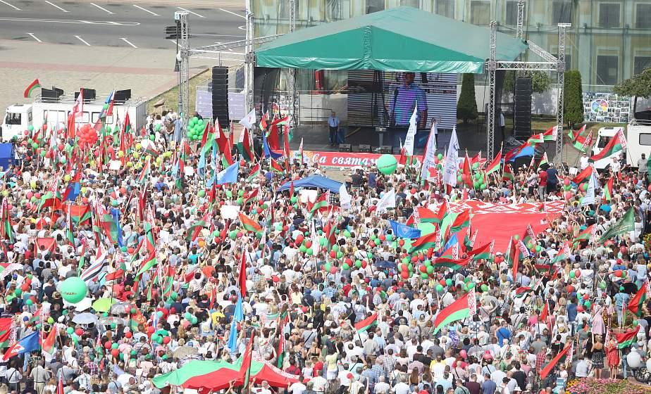 «Беларусь не отдадим». Митинг в поддержку мира, безопасности и спокойствия прошел в Гродно