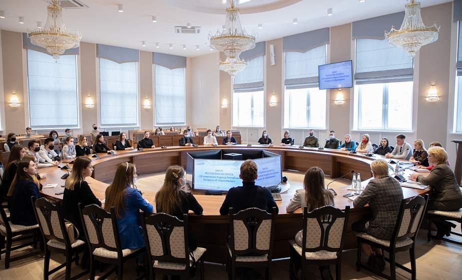 В ГрГУ имени Янки Купалы состоялась встреча студентов с депутатом Палаты представителей Национального собрания Республики Беларусь Лилией Кирьяк