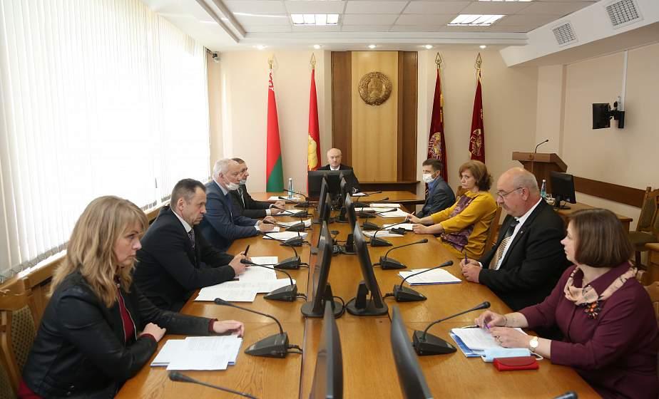 В облисполкоме состоялось первое организационное заседание областной избирательной комиссии по выборам Президента Республики Беларусь