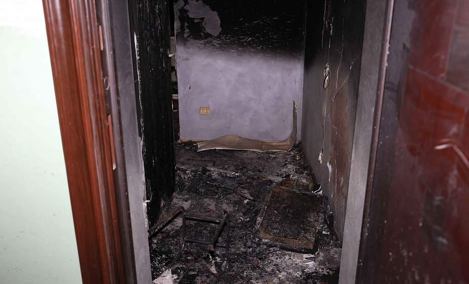 В Гродно по улице Титова горела квартира