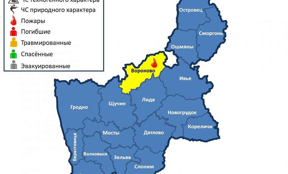 В Вороновском районе горела хозпостройка