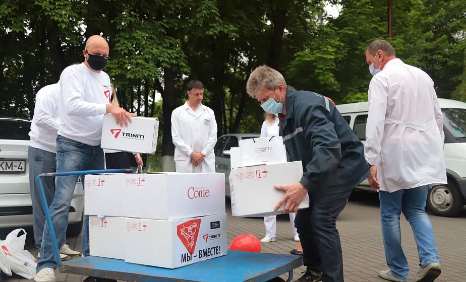 Добрые дела и слова помогают. Врачи и пациенты областной инфекционной клинической больницы получили спонсорскую помощь от жителей региона и представителей ТРК «TRINITI»