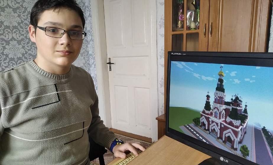 Город за 8 месяцев. Школьник, создавший виртуальную модель Гродно в игре Minecraft, рассказал о своем хобби
