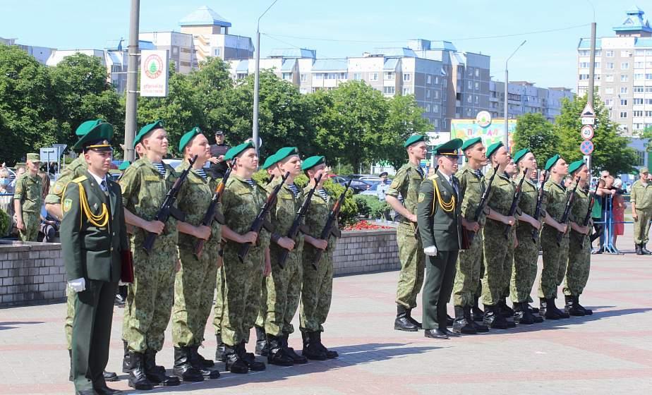Более 100 солдат Гродненской погрангруппы присягнули на верность Родине