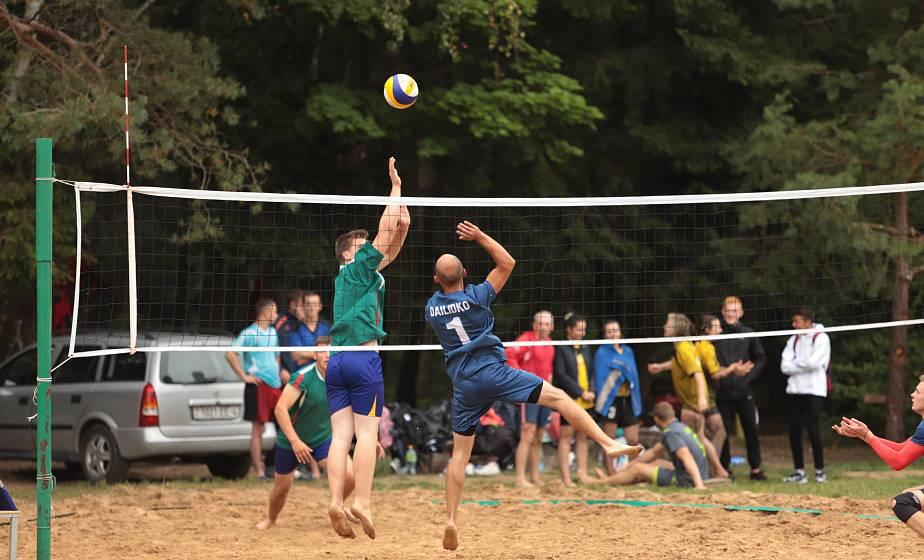 Соревнования по пляжному волейболу прошли на Августовском канале