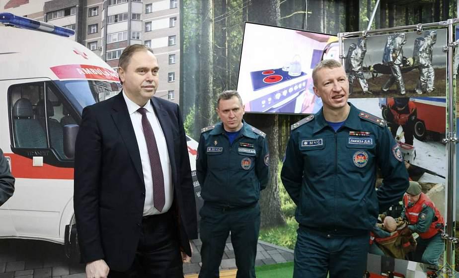 Владимир Караник посетил областной центр безопасности МЧС в Лиде
