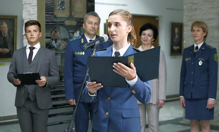 В выборе профессии уверены. В Купаловском университете будущие таможенники дали торжественную клятву