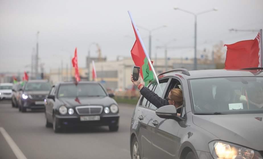 Вдоль западной границы региона. Автопробег «За единую Беларусь!» проходит в Гродненской области (обновляется)