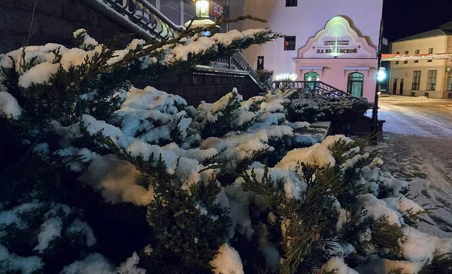 ФОТОФАКТ: Мартовский снегопад и заморозки в Гродно