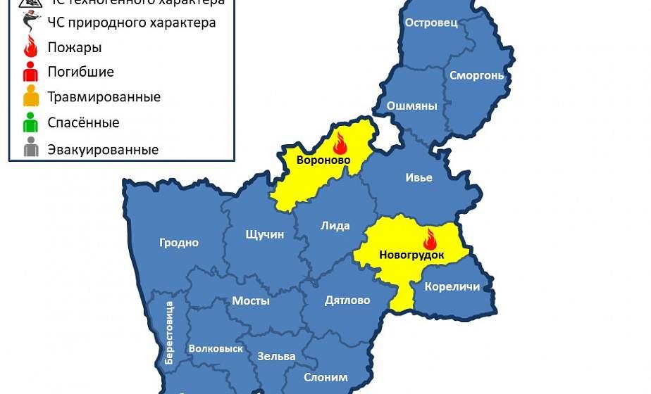 В одной из деревень Вороновского района горела хозпостройка