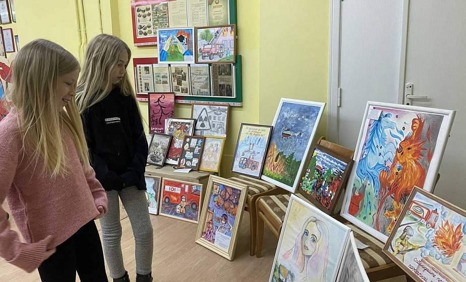В Лиде состоялся смотр-конкурс детского творчества «Спасатели глазами детей»
