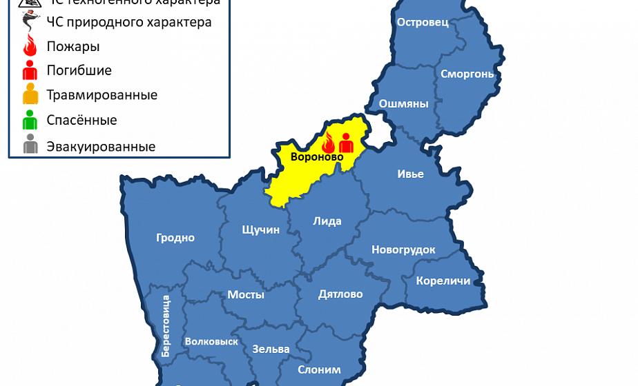 ЧП в полночь. В Вороновском районе при пожаре погиб мужчина (Дополнено)