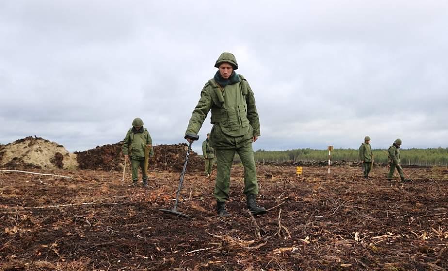 В Лидском районе территорию будущих торфоразработок обследовали саперы и обнаружили более 120 взрывоопасных предметов