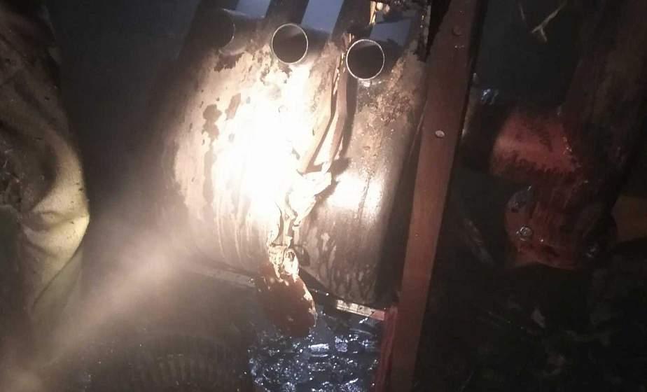 Загорелся бытовой вагончик. Спасатели ликвидировали пожар в Гродно