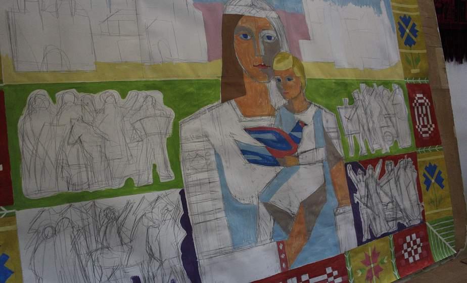 В Гродно создают гобелен с изображением матери Беларуси