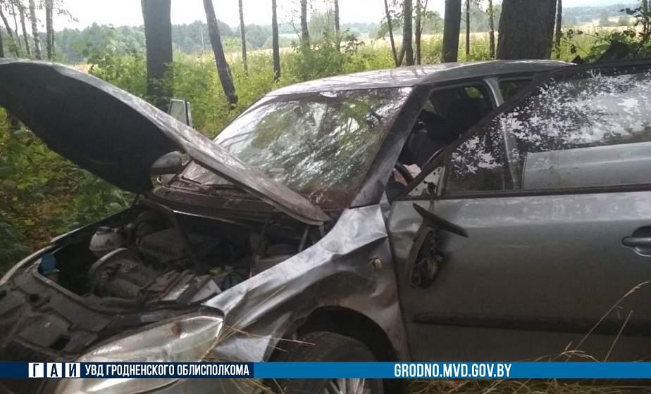 В Вороновском районе автомобиль слетел в кювет: пострадала пассажирка