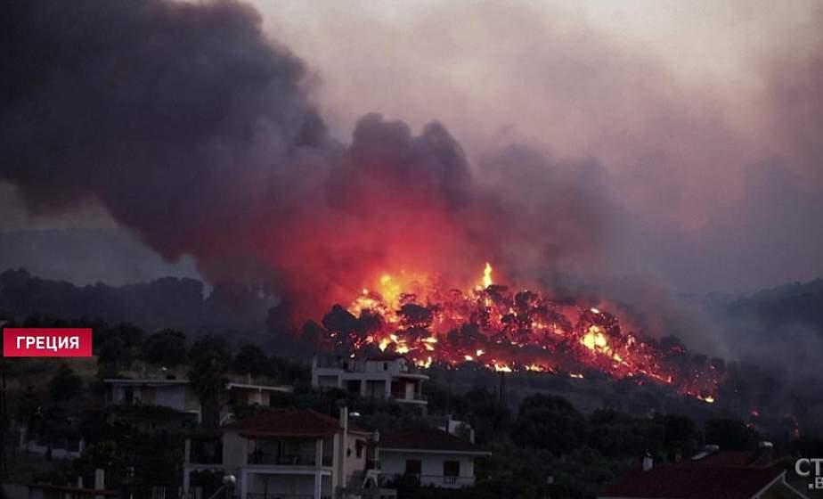 Греция для борьбы с лесным пожаром запросила помощь у других европейских стран (+видео)