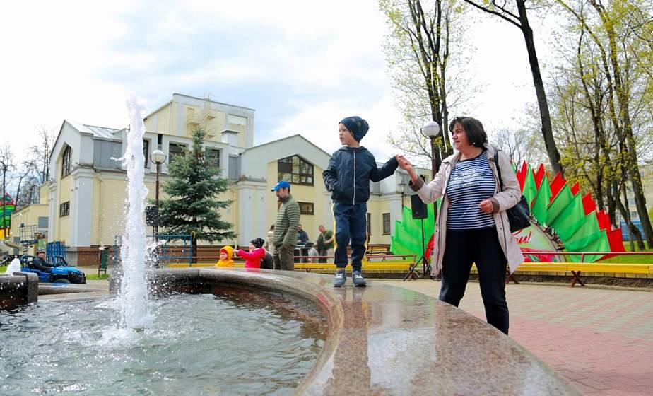 1 Мая в Гродно состоялось традиционное открытие сезона фонтанов (+видео)