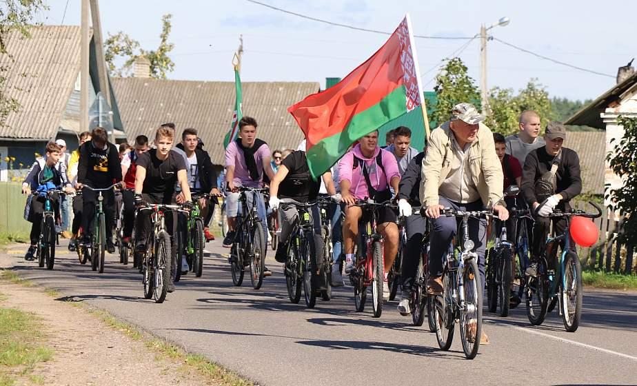 За сильную и процветающую Беларусь! Велоакция прошла в Ивье (+видео)