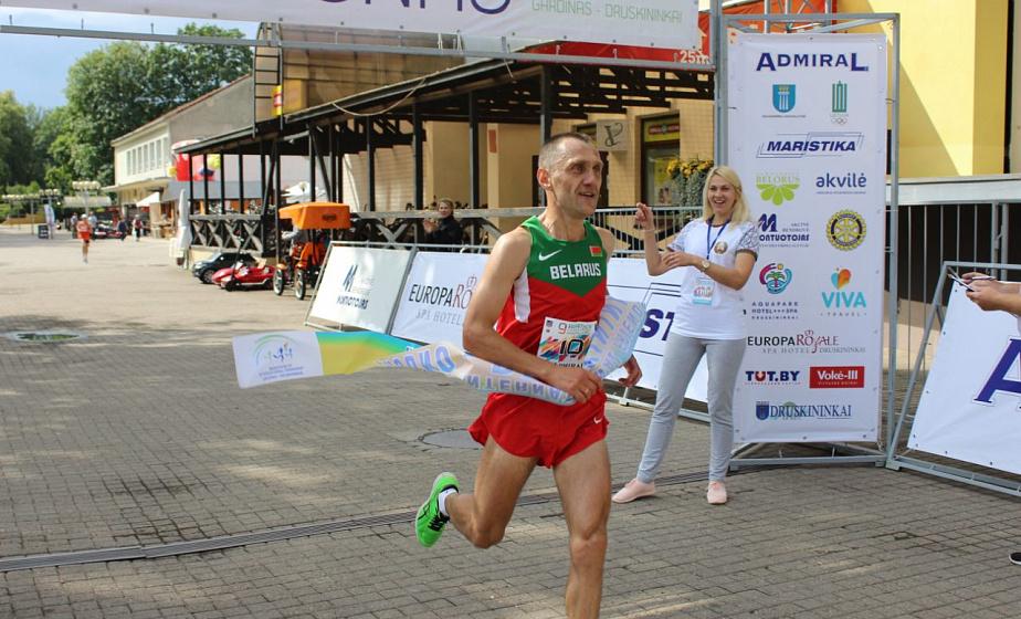 Гродненец Игорь Тетерюков стал победителем марафона дружбы «Гродно-Друскининкай»