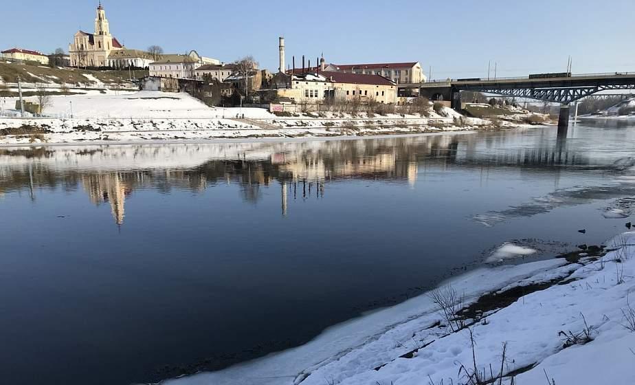 Несмотря на снежную зиму, уровень воды в Немане ниже, чем в прошлом году