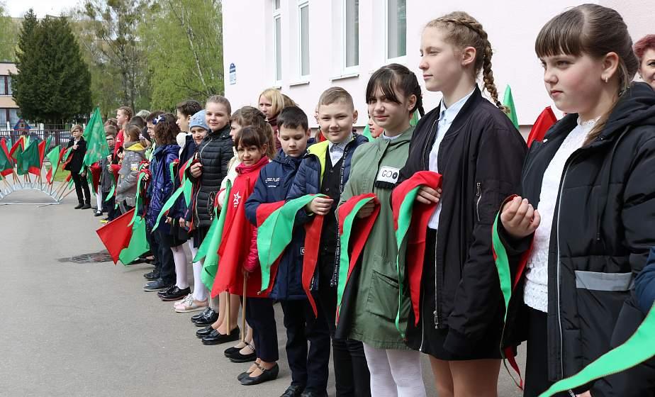 В преддверии Дня Победы лучших учащихся гимназии №6 г.Гродно приняли в ряды пионерской дружины