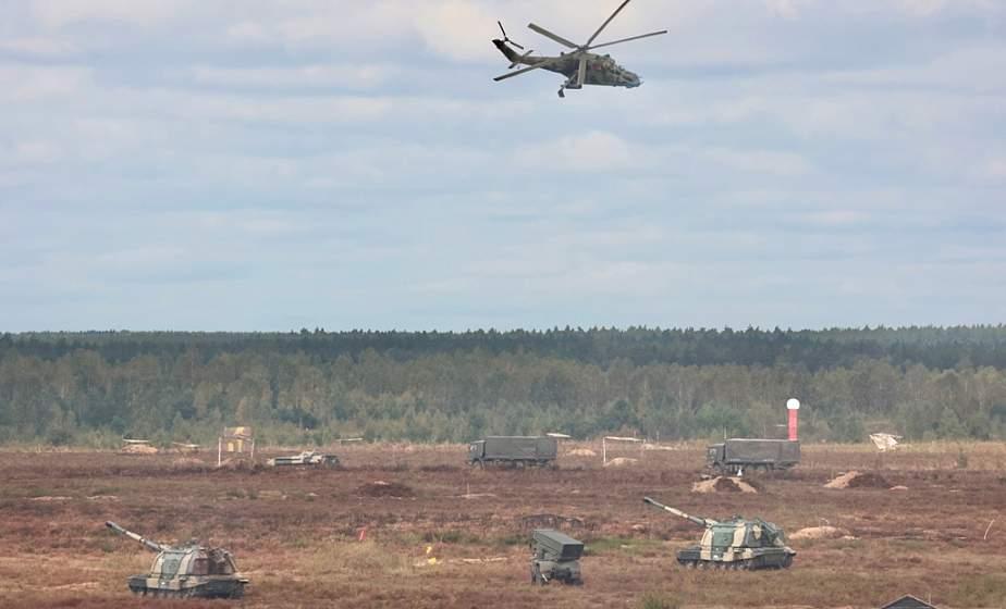"""В Беларуси и России продолжается совместное стратегическое учение """"Запад-2021"""""""