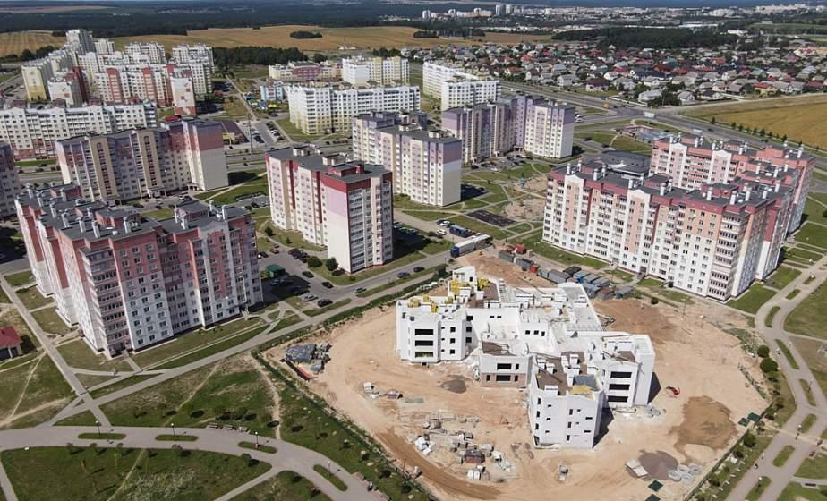 Фотофакт: микрорайон Ольшанка с высоты птичьего полета