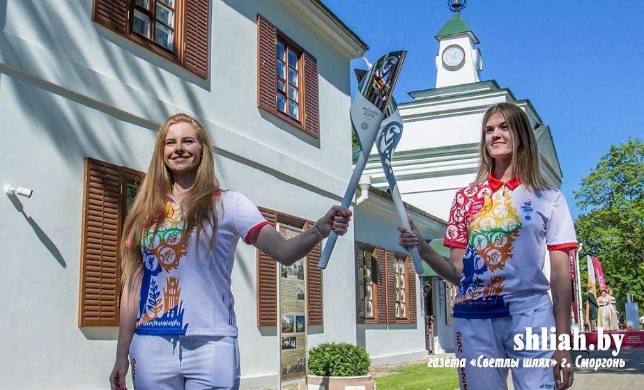 Огонь II Европейских игр торжественно встретили на Сморгонщине