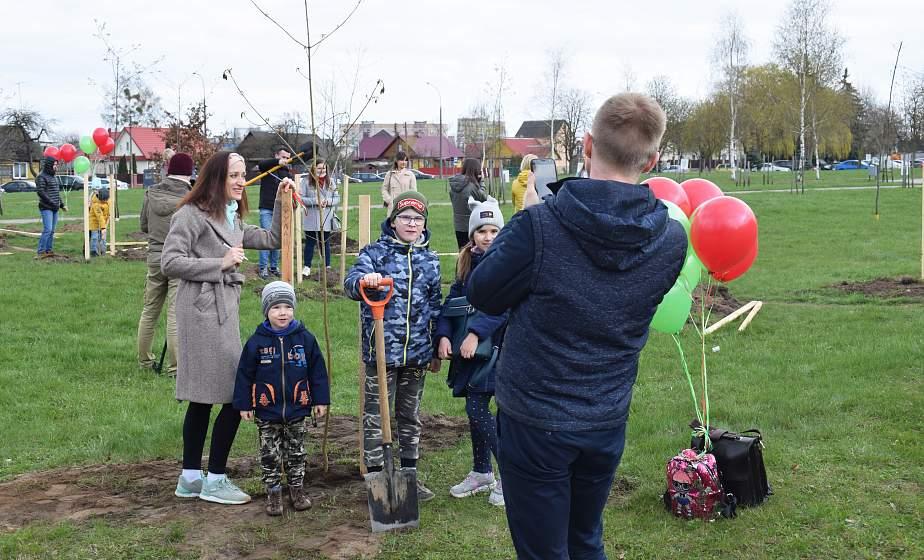 «Приятно, что такие мероприятия проводятся в нашем городе». В парке семейных деревьев в Гродно высадили новые саженцы