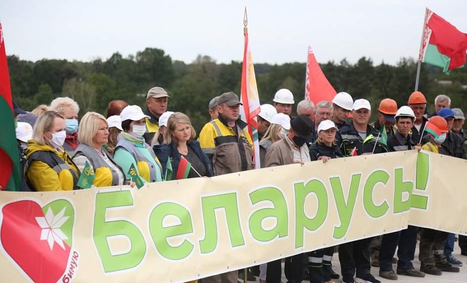 «Будем работать, невзирая на внешние факторы». Работники дорожно-строительных и мостостроительных организаций Гродненщины в поддержку мира, стабильности и процветания Беларуси