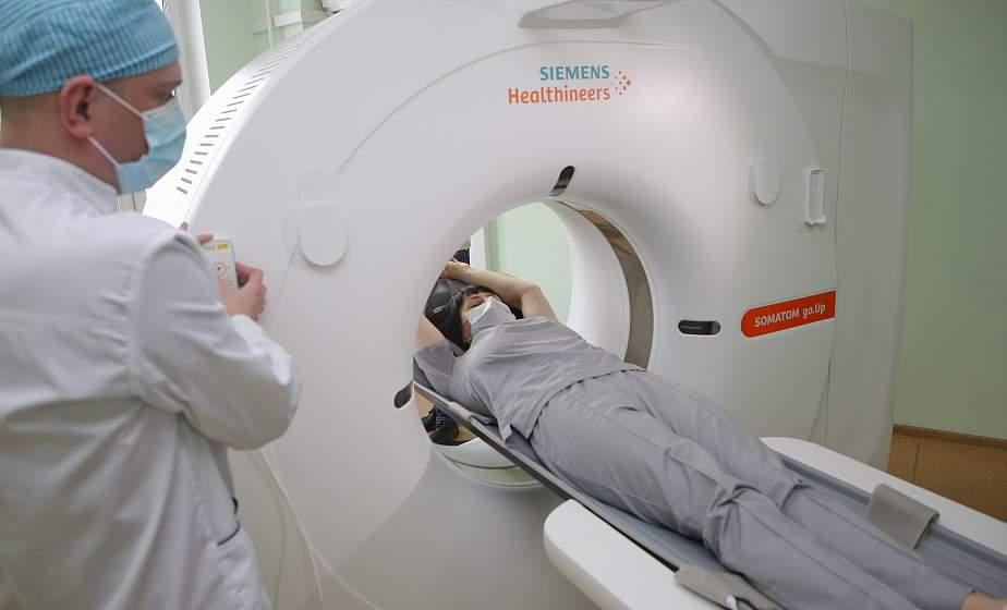 Исследования будут проводить круглосуточно. В клинической больнице скорой медицинской помощи в Гродно работает новый компьютерный томограф
