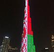 Самое высокое здание в мире окрасилось в цвета белорусского флага в честь Дня Независимости
